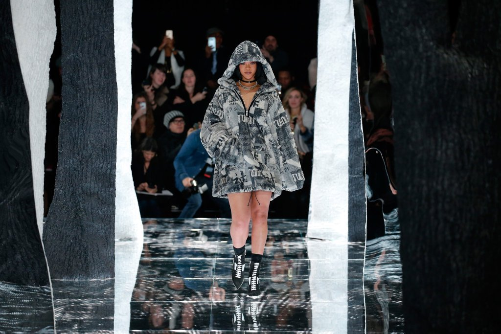 Rihanna's ?#?FENTYxPUMA? collection debut with PUMA at NYFW.