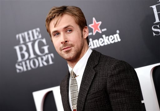 """In this Nov. 23, 2015 file photo, actor Ryan Gosling attends the premiere of """"The Big Short"""" in New York."""