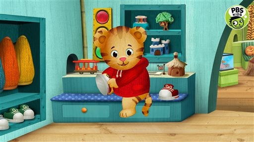 "In this image provided by courtesy of PBS and The Fred Rogers Company, ""Daniel Tiger's Neighborhood"" is among the PBS KIDS programs that will be available through new 24/7 multiplatform kids services to be launched by PBS later in 2016."