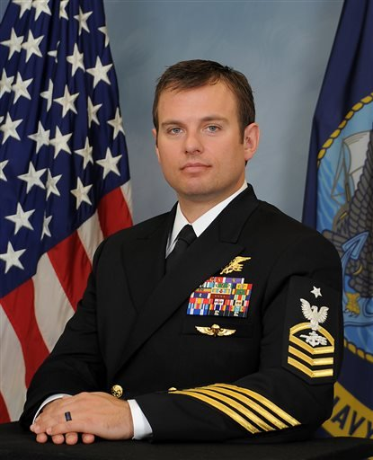 A photo provided Feb. 24, 2016 by the US Navy shows Senior Chief Special Warfare Operator (SEAL) Edward C. Byers Jr. Byers will be awarded the Medal of Honor by President Barack Obama Monday, Feb. 29, 2016. (U.S. Navyvia AP)