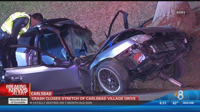 Crash Closes Stretch Of Carlsbad Village Drive Cbs News 8 San