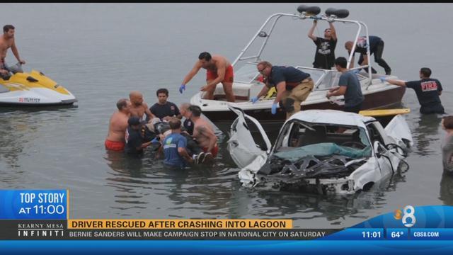Vehicle Crashes Into Agua Hedionda Lagoon In Carlsbad Cbs News 8