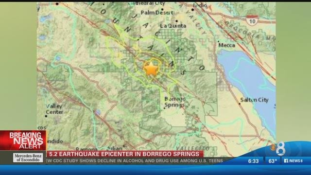 borrego springs cns residents across southern california were jostled awake early friday by a strong and very shallow earthquake in anza borrego desert
