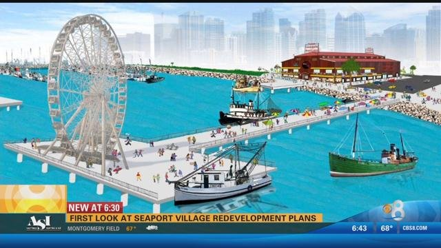 First Look At Seaport Village Redevelopment Plans Cbs News 8 San Diego Ca News Station
