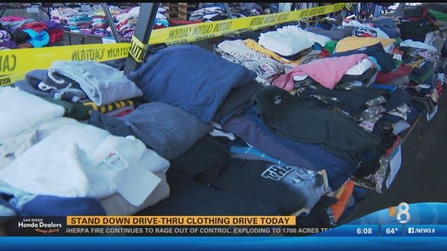 Image result for Stand Down for Homeless Veterans clothing drive accepting donations
