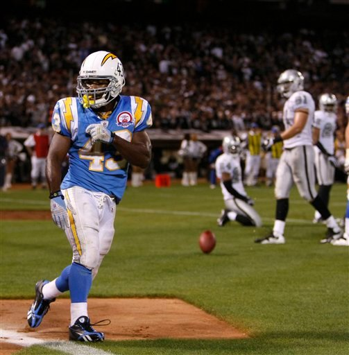 San Diego Chargers Game Channel: Rivers Leads Chargers Past Raiders 24-20