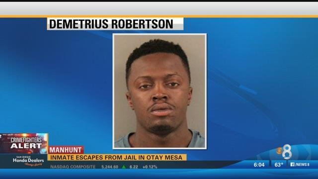 Inmate escapes from otay mesa detention facility