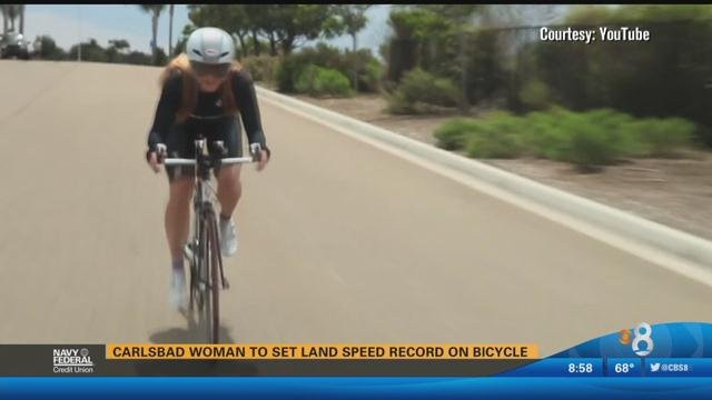 Land Speed Record >> Carlsbad woman to set land speed record on bicycle - CBS ...