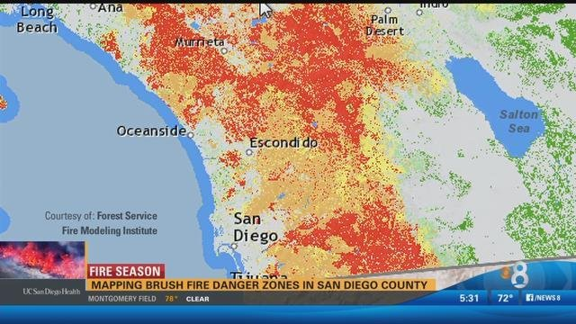 Mapping The Brush Fire Danger Zones In San Diego County Cbs News 8