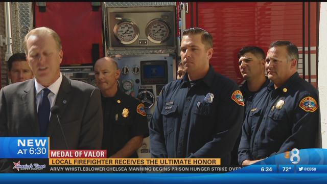 medal of valor  san diego firefighter receives ultimate
