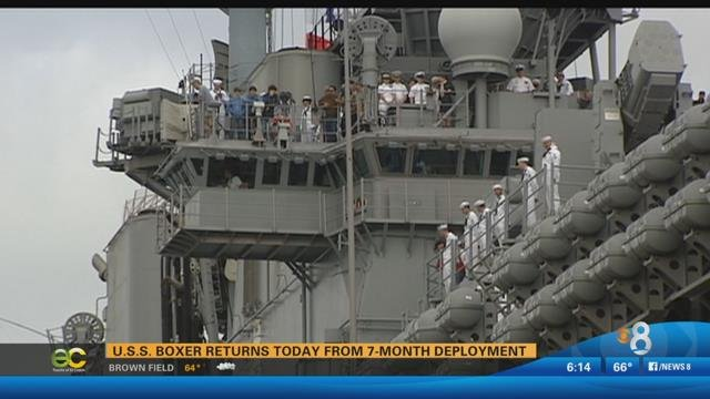 uss boxer returns to san diego after seven month