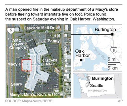 Mall shooting suspect 39 creepy 39 multiple arrests for Oak harbor motors service department