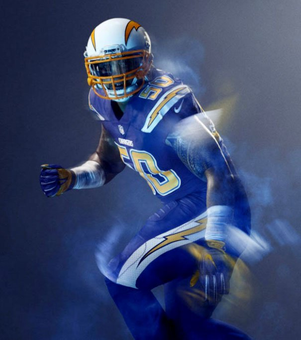 Chargers Debut Color Rush Uniform For Thursday Night