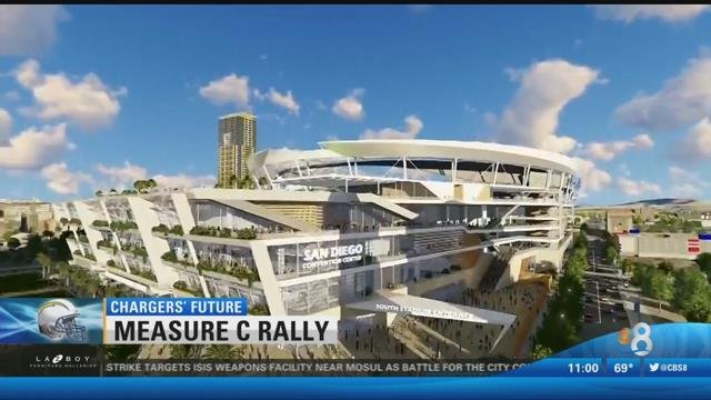 downtown stadium rally leaders and chargers urge a yes. Black Bedroom Furniture Sets. Home Design Ideas