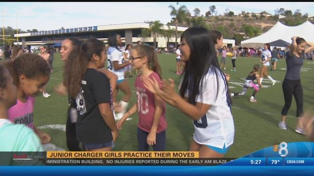 Junior Charger girls practice their moves - CBS News 8 ...