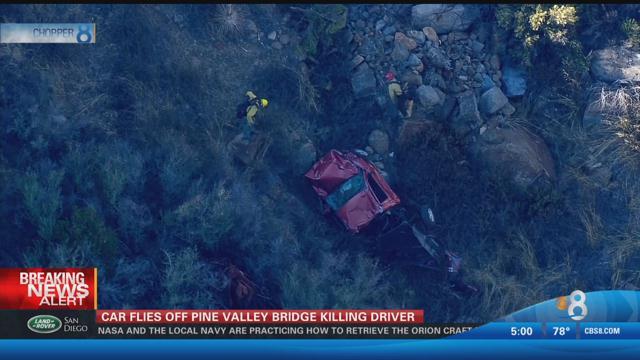 Driver dies after car plunges off Pine Valley Bridge - CBS ...