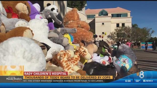 Police deliver teddy bears to Rady Children's Hospital ...