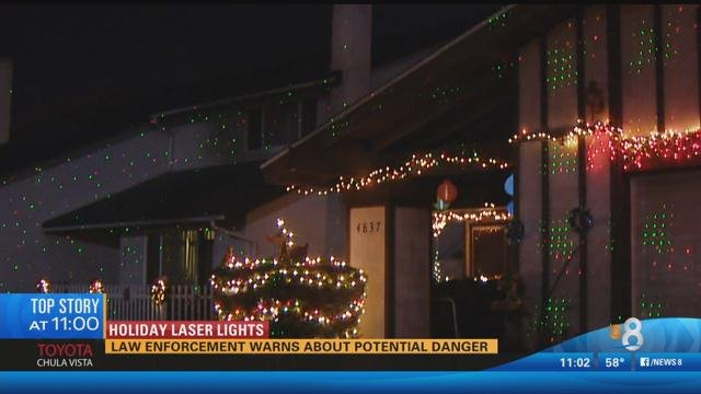 Outdoor Laser Holiday Lights Holiday laser lights law enforcement warns about potential dang san diego cbs 8 laser holiday lights are the new big thing in outdoor decorations this year but law enforcement officials are warning that laser light workwithnaturefo
