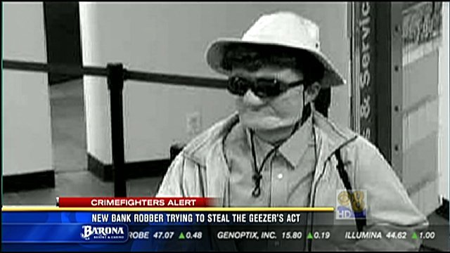 New Bank Robber Trying To Steal The Geezer Bandit S Act