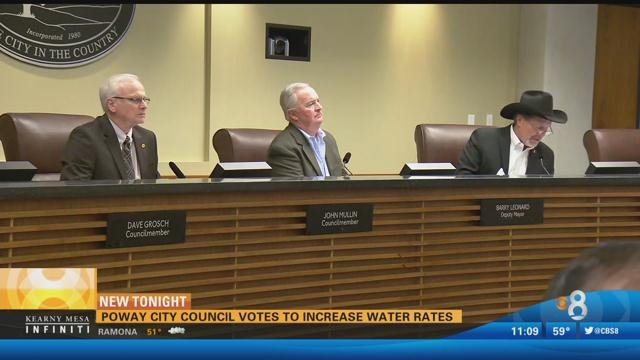 Poway City Council Votes To Increase Water Rates Cbs