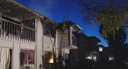 Flames damage apartment complex in morena cbs news 8 - Apartment complexes san diego ...