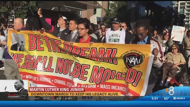 MLK legacy celebrated by hundreds of San Diegans ...