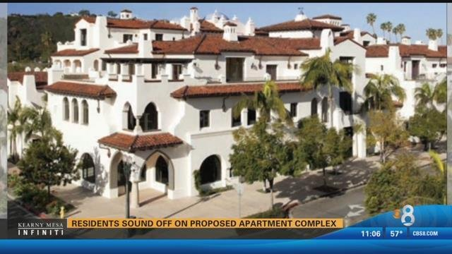 Residents sound off on proposed apartment complex in - Apartment complexes san diego ...