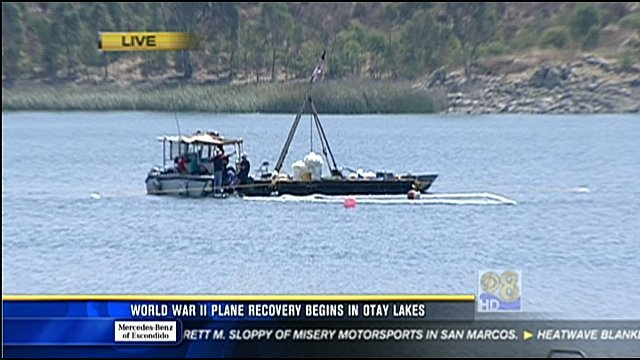 World war ii plane recovery begins in otay lakes cbs for Otay lakes fishing