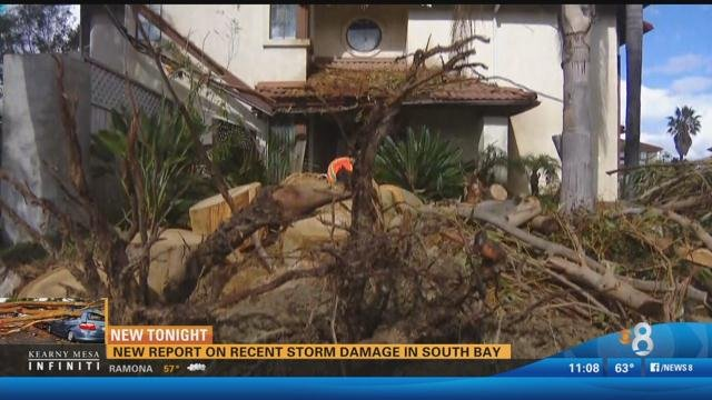 new report on recent storm damage in south bay