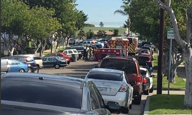 Chemical spill prompts evacuations in national city cbs for National motors san diego
