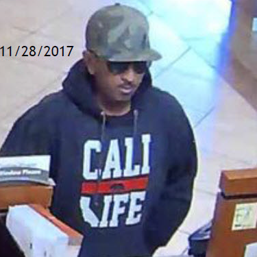 858734ddf79 ... the FBI s San Diego Violent Crimes Task Force have asked for help in  identifying and locating an unknown suspect wanted for a series of bank  robberies.