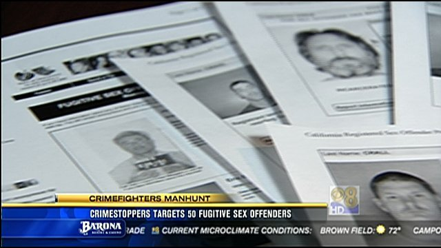 Crime Stoppers targets 50 fugitive sex offenders