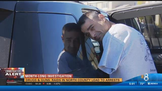 SAN DIEGO (CBS 8) — A month-long investigation ended Thursday with more than a half dozen arrests during raids in North County.