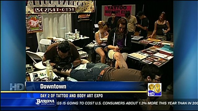 Day 2 of tattoo and body art expo cbs news 8 san diego for Tattoo expo san diego