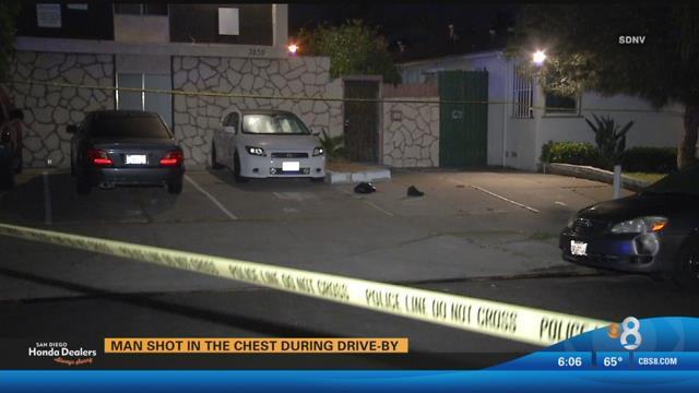 Man Shot Chest Drive City Heights Cbs