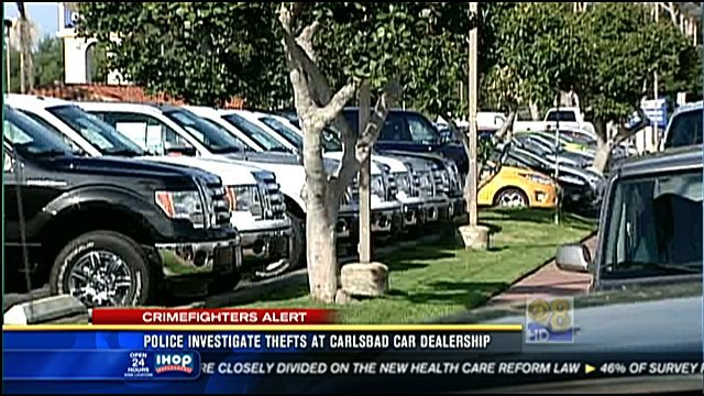 Ken Grody Ford Carlsbad >> Surveillance video offers new clues in dealership thefts - CBS News 8 - San Diego, CA News ...