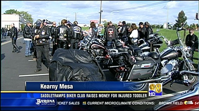 Saddletramps biker club raises money for injured toddler - San ...