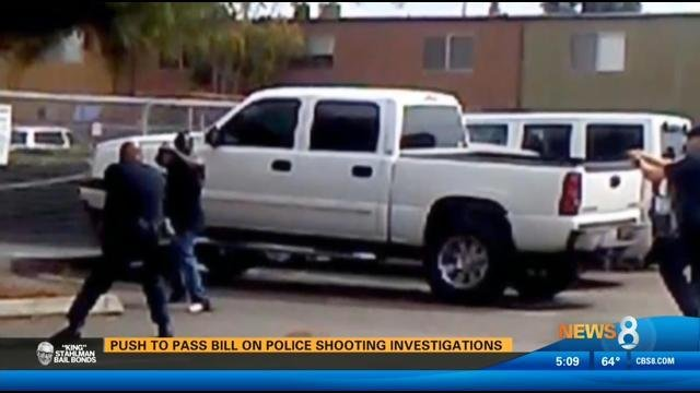 push to pass bill on police shooting investigations cbs news 8 san diego ca news station. Black Bedroom Furniture Sets. Home Design Ideas