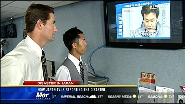 japan tv  reporting  disaster cbs news  san diego ca news station kfmb channel