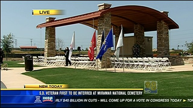 San diego veteran first to be interred at miramar cbs for National motors san diego