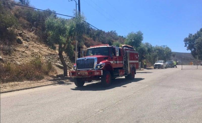 Wildfire burns 2 acres in lakeside cbs news 8 san for Worldwide motors san diego ca