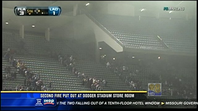 Second fire put out at Dodger Stadium store room - CBS News 8 - San Diego, CA News Station ...