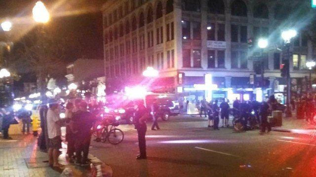 Man caught in crossfire as gunshots erupt outside Gaslamp nightclub