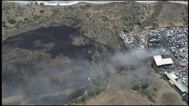 Stubborn Wrecking Yard Fire Spreads To Brush In Chula