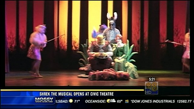 Honda Of Florence >> Shrek the Musical opens at Civic Theatre - CBS News 8 ...