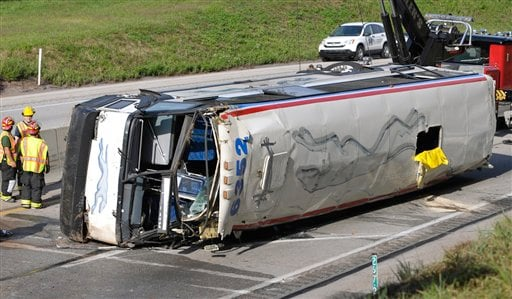 Greyhound Bus Overturns; 14 Taken To Pa. Hospitals