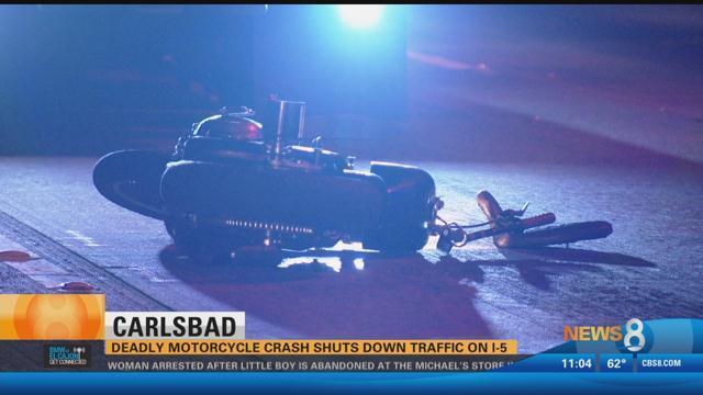 Carlsbad Deadly Motorcycle Crash Shuts Down Traffic On I 5 Cbs