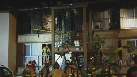 Fire breaks out at clairemont apartment complex cbs news - Apartment complexes san diego ...