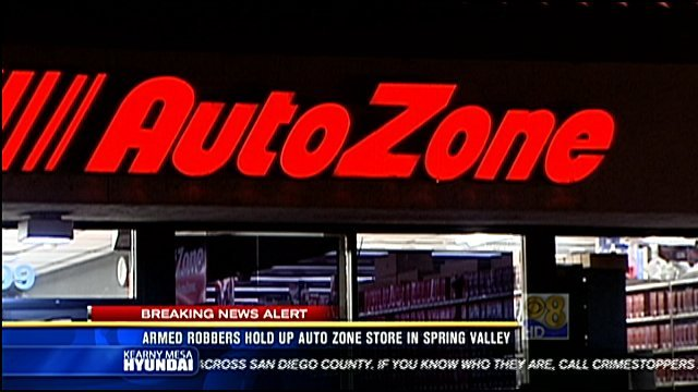 Armed robbers hold up auto zone store in spring valley for Worldwide motors san diego ca