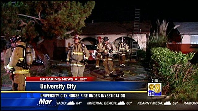 Honda National City >> University City house fire under investigation - CBS News 8 - San Diego, CA News Station - KFMB ...